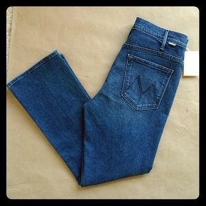NWT MOTHER Hustler Ankle High Rise Crop Jeans 30